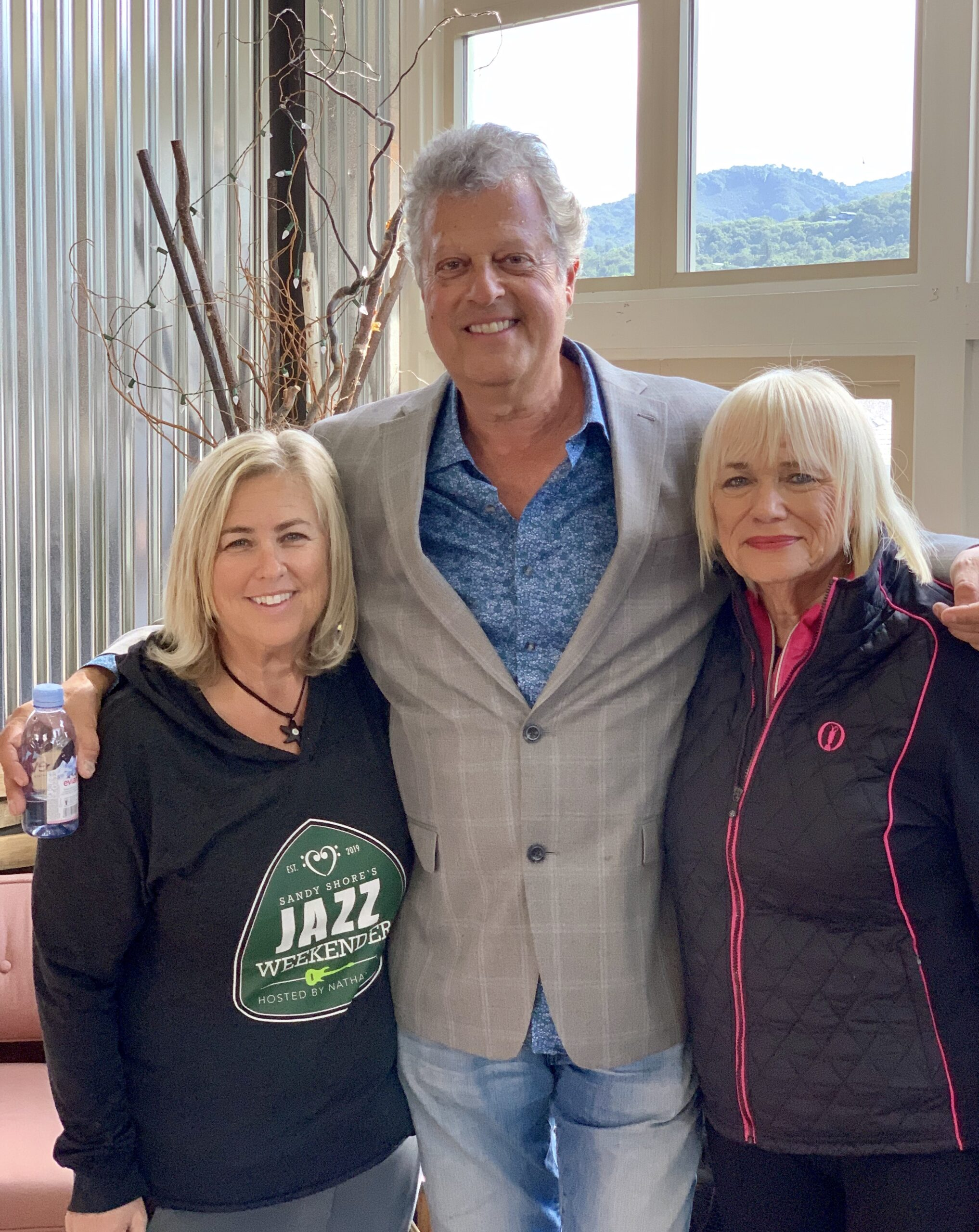 Paul Brown with Sandy Shore and Sylvia Bennett